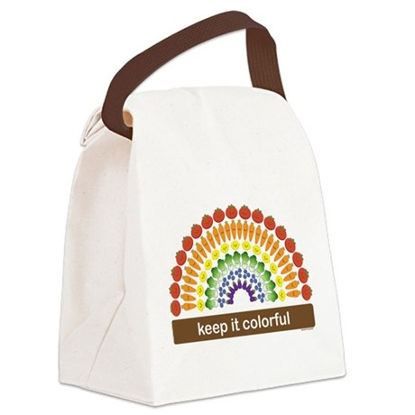 Keep It Colorful Canvas Lunch Bag