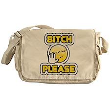 bitch please bbm smiley Messenger Bag