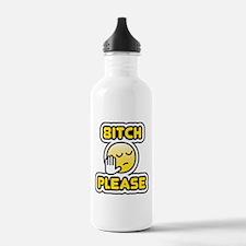 bitch please bbm smiley Water Bottle