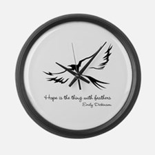 Feathered Hope Large Wall Clock