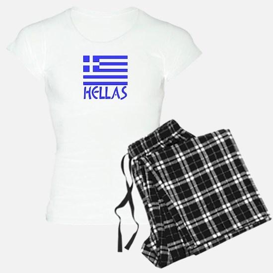 Greece / Hellas Flag of Greece Pajamas