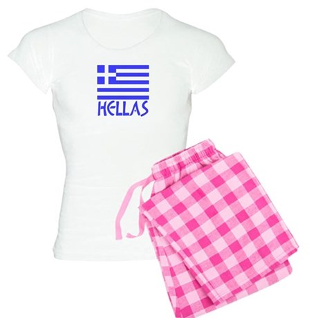 Greece / Hellas Flag of Greece Women's Light Pajam