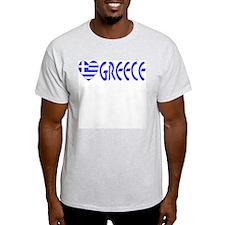 Greece Flag Heart & Word T-Shirt