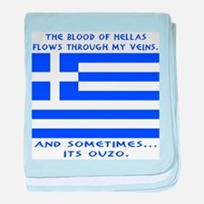 Blood of Hellas and Ouzo baby blanket
