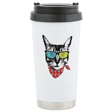 Cat with sunglass Travel Mug