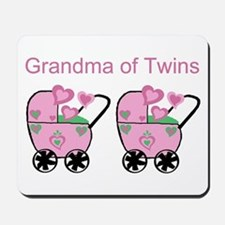 Grandma of Twins (Girls) Mousepad