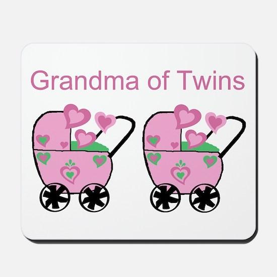 Grandma of Twins (Girls) Mousepad