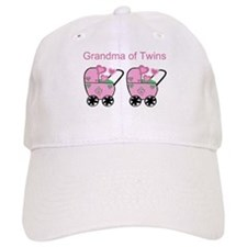 Grandma of Twins (Girls) Baseball Cap