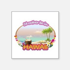 "HAWAII 2.png Square Sticker 3"" x 3"""