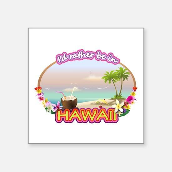 "HAWAII 2.png Square Sticker 3"" x 3"""