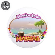 "HAWAII 3.5"" Button (10 pack)"