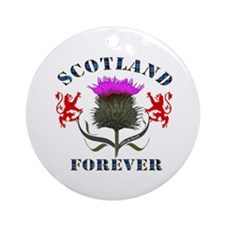 Scotland Forever Thistle Ornament (Round)