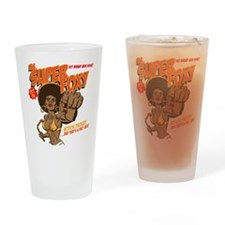 Ms. Super Foxy Drinking Glass