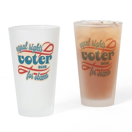 Equal Rights Voter Drinking Glass