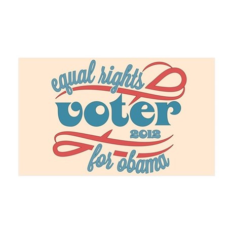 Equal Rights Voter 35x21 Wall Decal