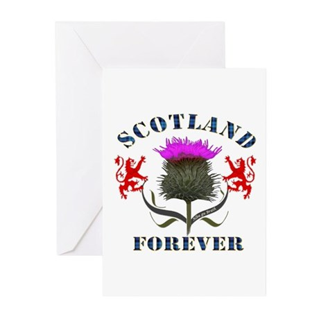 Scotland Forever Thistle Greeting Cards (Pk of 10)