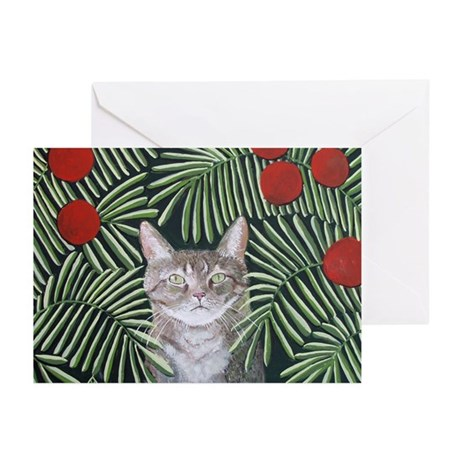 """""""Rousseau's Dream Cat"""" Greeting Cards (Pk of 10)"""