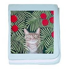 """Rousseau's Dream Cat"" baby blanket"