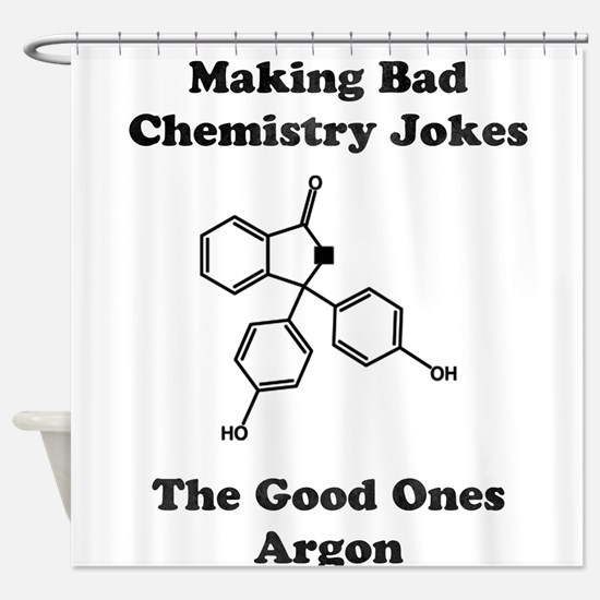 Argon Joke Shower Curtain