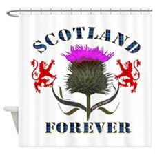 Scotland Forever Thistle Shower Curtain