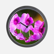 Orchid Wow Wall Clock