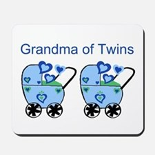 Grandma of Twins (Boys) Mousepad