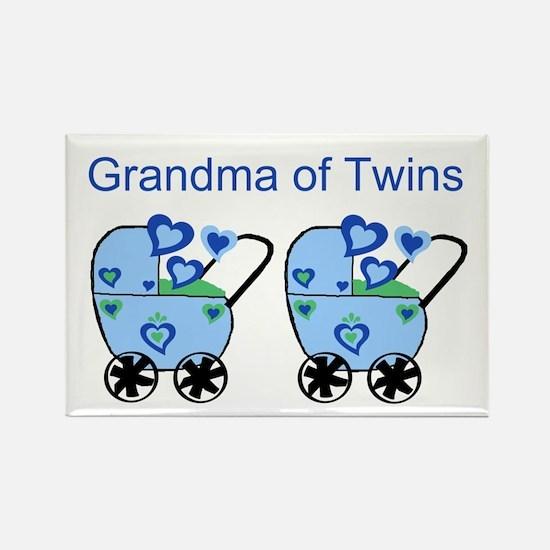 Grandma of Twins (Boys) Rectangle Magnet