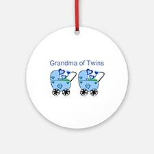 Grandma of Twins (Boys) Ornament (Round)