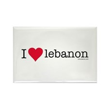 iluvbeirut/lebanon Rectangle Magnet (10 pack)