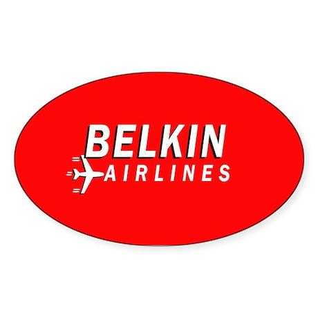 Belkin Airlines - Oval Sticker