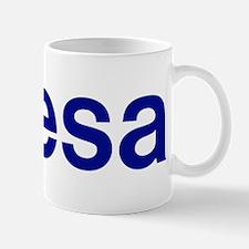 ESA logo blue trans Mugs