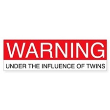 Under Influence of Twins Bumper Bumper Sticker