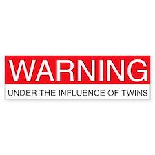 Under Influence of Twins Bumper Bumper Sticker