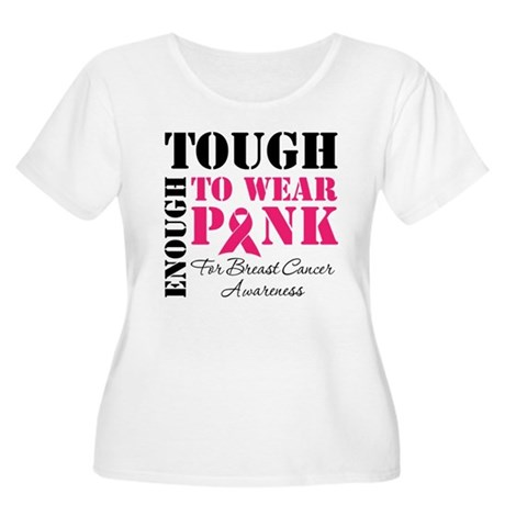 Tough Enough To Wear Pink Women's Plus Size Scoop