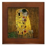 Gustav klimt the kiss Framed Tiles