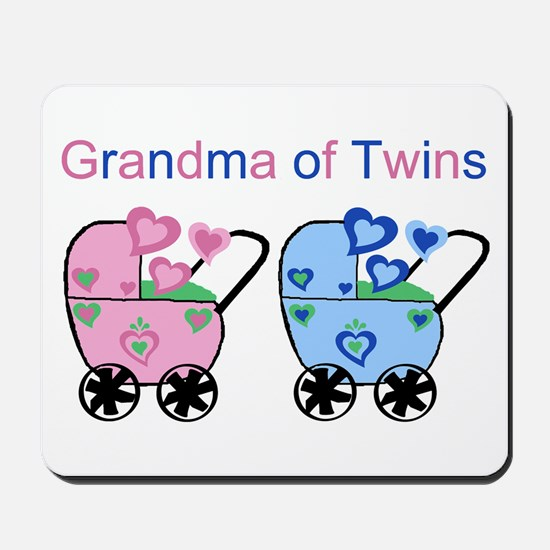 Grandma of Twins (Girl & Boy) Mousepad