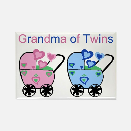 Grandma of Twins (Girl & Boy) Rectangle Magnet