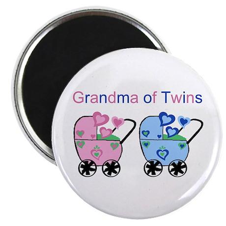 Grandma of Twins (Girl & Boy) Magnet