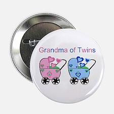 Grandma of Twins (Girl & Boy) Button