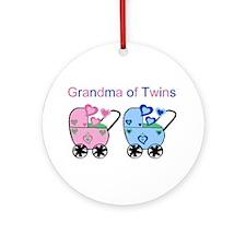 Grandma of Twins (Girl & Boy) Ornament (Round)