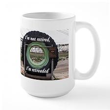 I'm not retired, I'm retreaded: mining truck tire