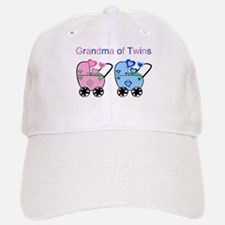Grandma of Twins (Girl & Boy) Baseball Baseball Cap