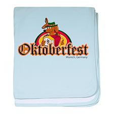 Oktoberfest Dachshund baby blanket