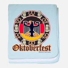 Oktoberfest Beer and Pretzels baby blanket