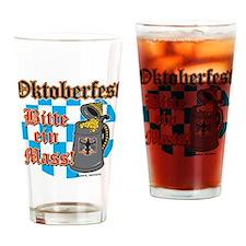 Oktoberfest Bitte ein Mass Drinking Glass