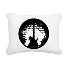 Guitar Silhouette Rectangular Canvas Pillow
