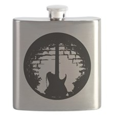 Guitar Silhouette Flask
