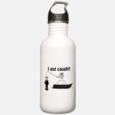 I Got Caught Groom Fishing Sports Water Bottle