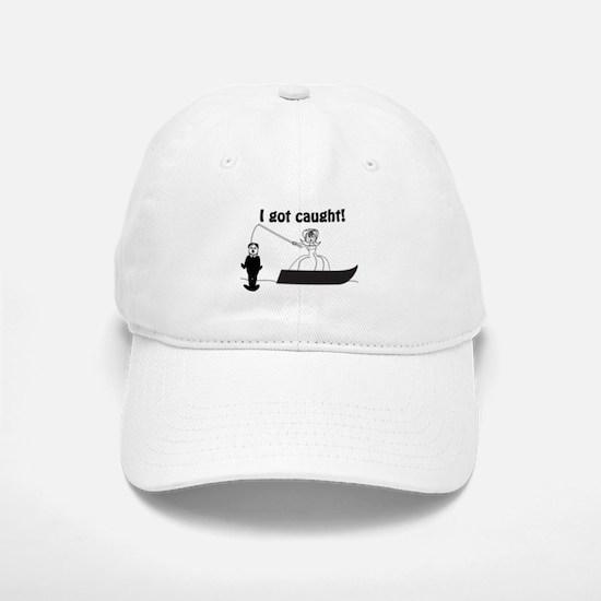 I Got Caught Groom Fishing Baseball Baseball Cap