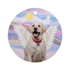 Yellow Labrador Angel Ornament (Round)